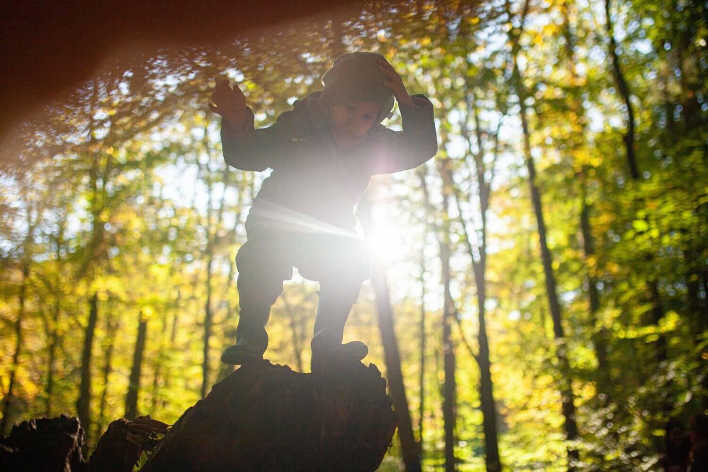 Kind im Mittelpunkt Waldgruppe Montessori