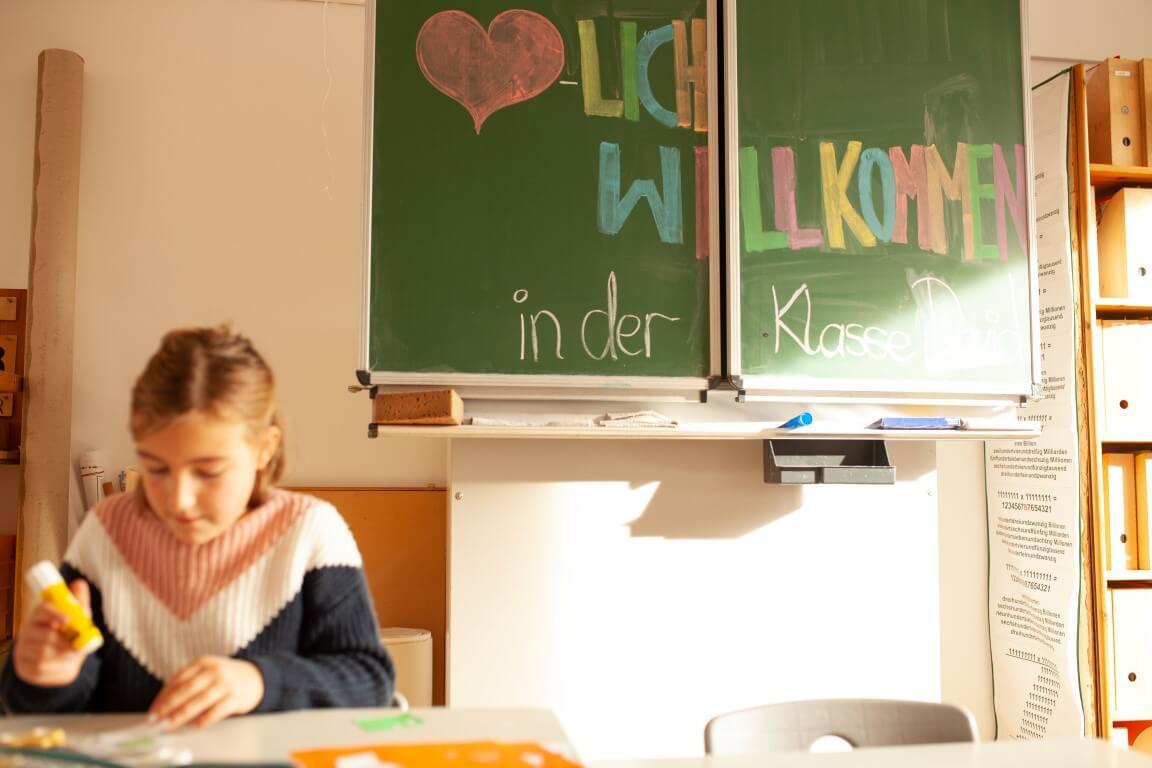 Willkommen-Tafel Schule