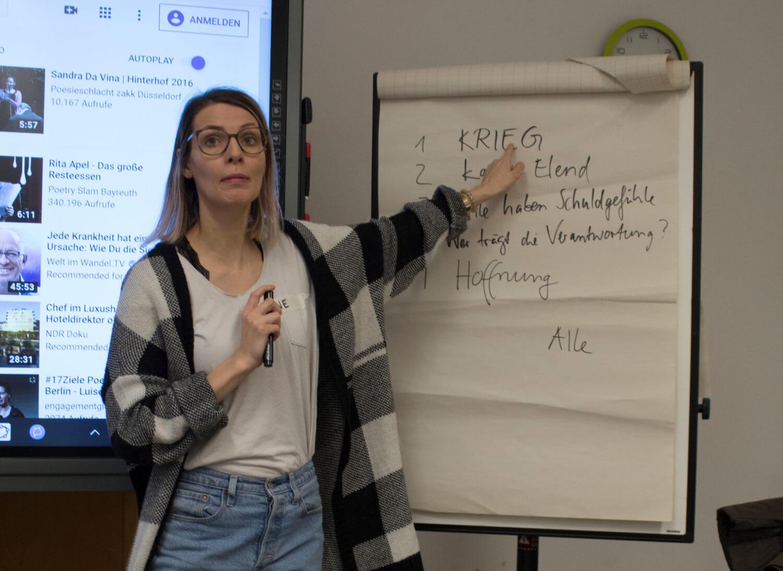 FOS-Projekt Schreibworkshop mit Pauline Füg